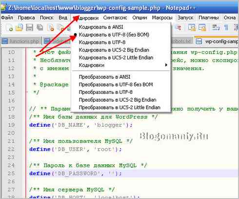 Wordpress на Denwer