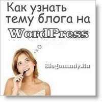 Как узнать тему блога