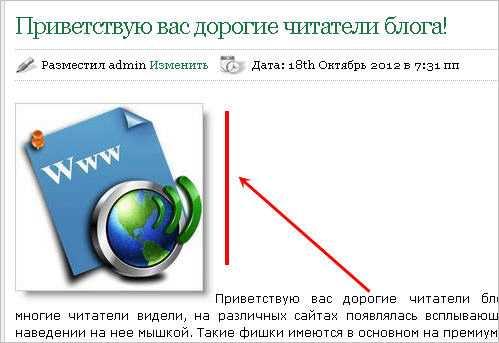 Выравнивание изображений в статье