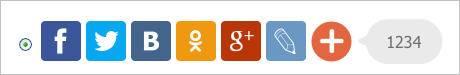 установить кнопки социальных сетей